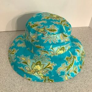 Blue cotton canvas sun hat for girls by GAP